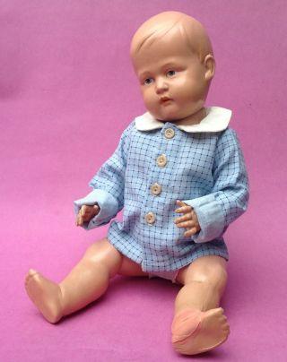 Puppe Zelluloid Celluloid Minerva Charakter Junge Buschow & Beck Helm 40cm 1920 Bild