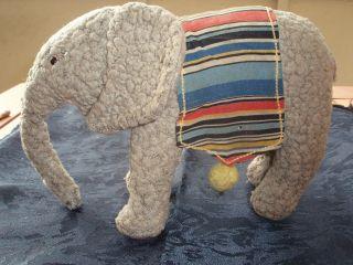 Alter Steiff Spiel - Elefant 30er Jahre Vorkrieg Knopf Heruntergezogenes F Bild