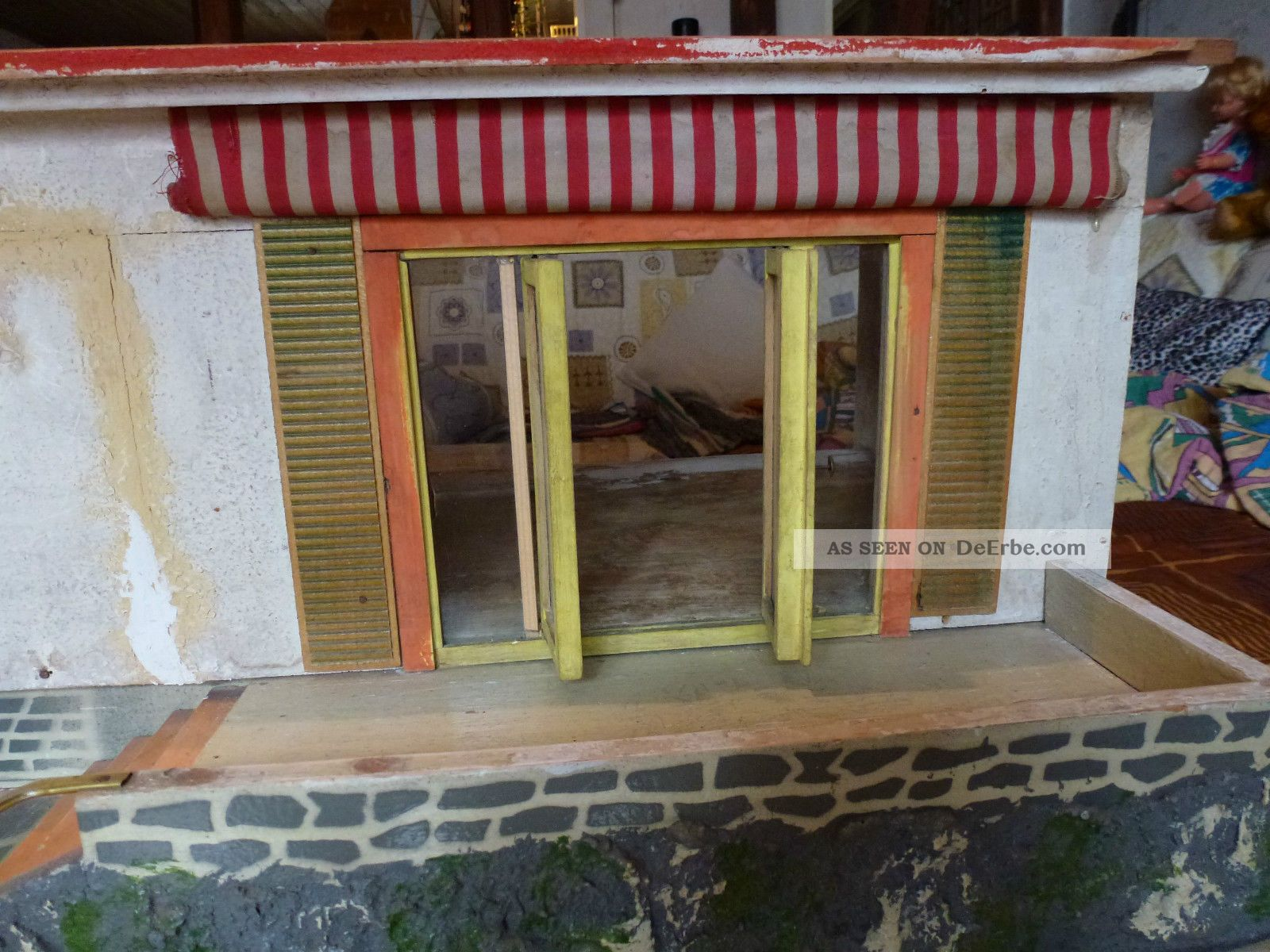 puppenhaus bungalow antik 50er jahre ddr. Black Bedroom Furniture Sets. Home Design Ideas