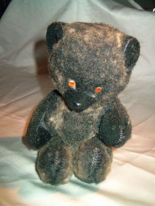 Alter,  Seltener,  Schwarzer Teddybär,  27cm Groß, Bild