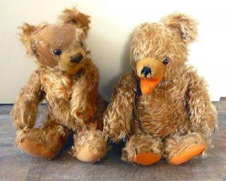 Alte Teddybären,  Steiff U.  Hermann Zotty Dachbodenfund Kellerfund Sammlerstück Bild