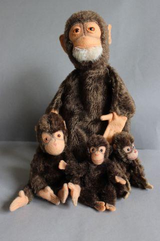 Niedliche Alte Steiff - Affenbande Bild