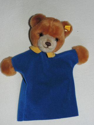 Steiff Handpuppe Teddy Handspielpuppe Mit Knopf Im Ohr Bild