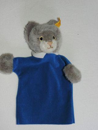 Steiff Handpuppe Katze Handspielpuppe Mit Knopf Im Ohr Bild