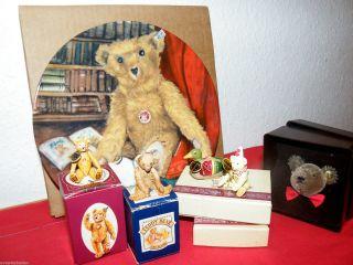 Steiff Konvolut 6 Clubgeschenke/miniaturen Unbespielt In Opv Bild