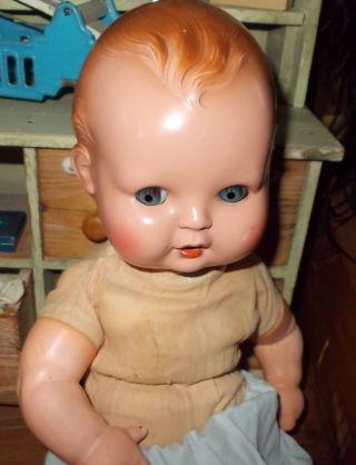 Alte Puppe Minerva,  Junge,  Celulloidkopf Bild