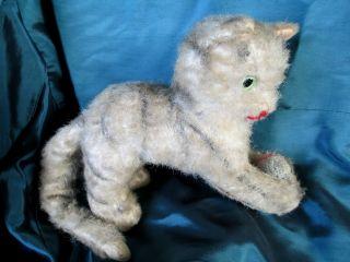 Sehr Altes Spielzeug - Stofftier_spielende Katze_stoffkatze_plüschkatze Bild