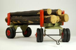 1 Stk.  Steiff Langholz - Transportanhänger - Mit Holzladung Bild