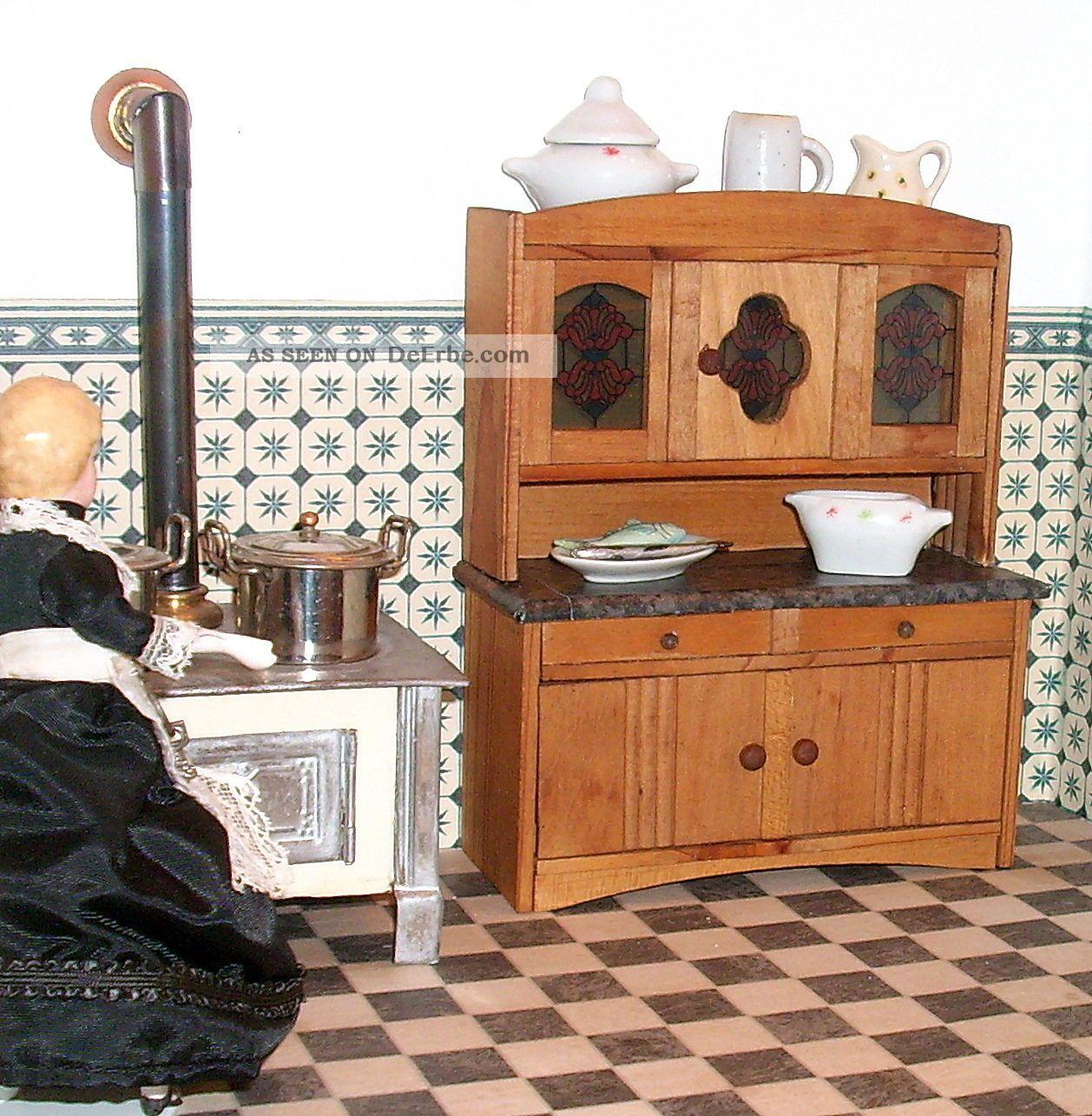 Kleiner Uralter Küchentisch Höhe 7 Cm Puppenküche