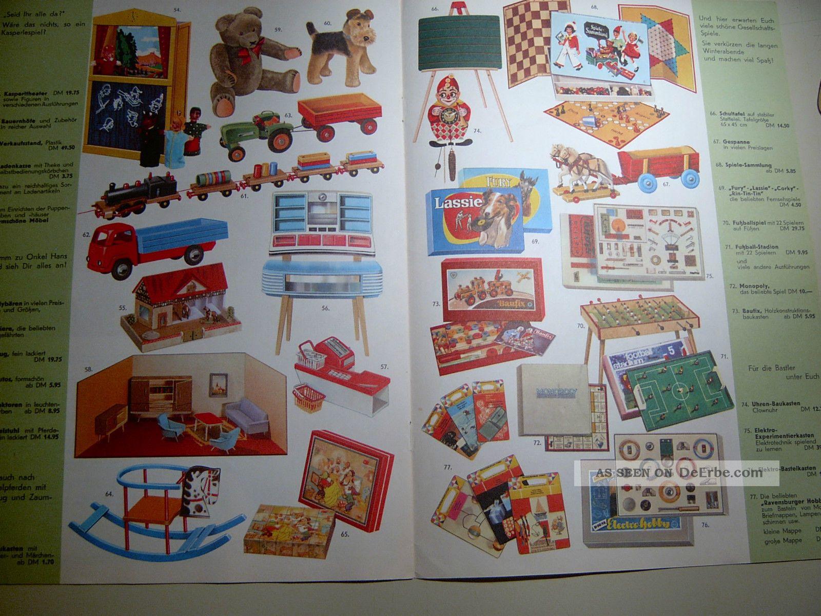 onkel hans spielwaren katalog um 1960 7 seitig fritz paul k nigslutter. Black Bedroom Furniture Sets. Home Design Ideas