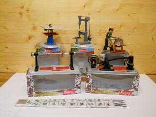 (71) Wilesco 6 Teile Antriebsmodelle Für Dampfmaschine In Originalverpackung Bild
