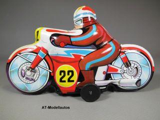 Motorrad Blechspielzeug Rennmaschine Blechmotorrad 23 Cm Juguetes Roman Spain Bild