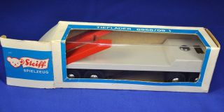 Steiff: Tieflader / Low Boy Trailer,  8985/09,  1971 - 1978,  Holz / Wooden Toy Bild