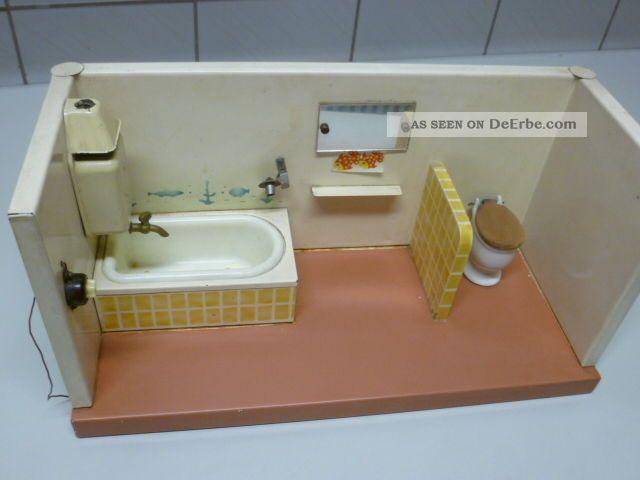 Puppenbad Puppenstube Badezimmer 50er Jahre Blech Bild