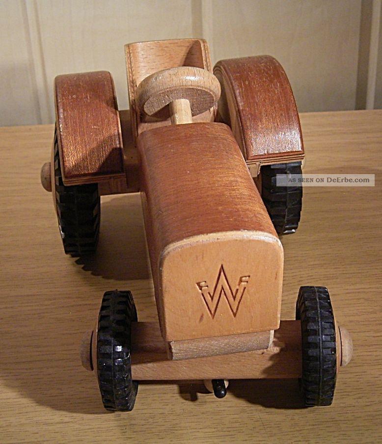 Alter großer ddr holz traktor fwf frühe
