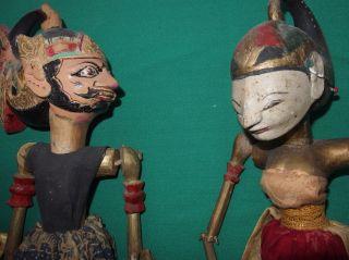 2 Alte Stabpuppen Indonesien Bild