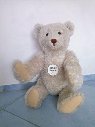 Teddybär 1921 Weiß 70 Cm / Steiff Replica 1921 / Ltd.  Ed.  2004 Bild