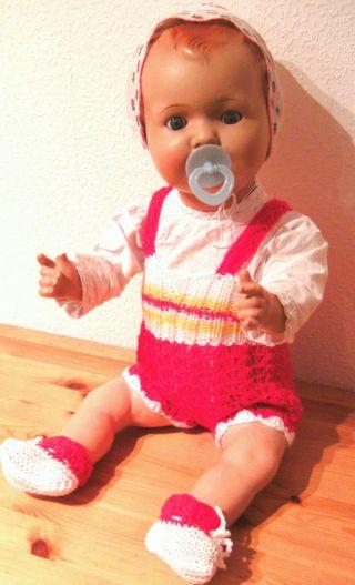 Uralte Puppe Sonneberger Massepuppe 66 Cm Sehr Groß Baby Sp 2542 Bild