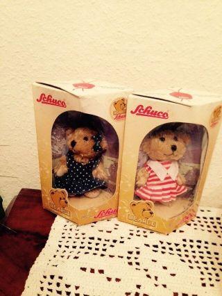 Schuco Bearli Bären Teddy Teddies 2 X Mädchen,  Ovp Im Karton Bild