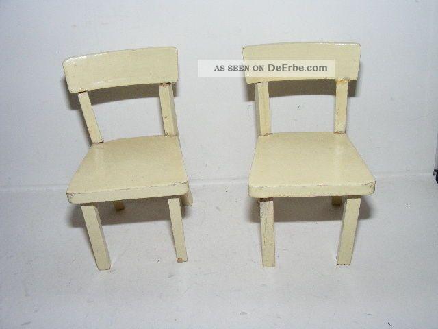 Alte Stühle 40er J. Kaufladen Puppenhaus Puppenstube