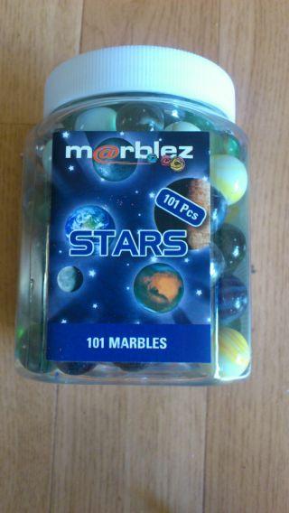 Marblez Stars,  101 Stück Murmeln, Bild
