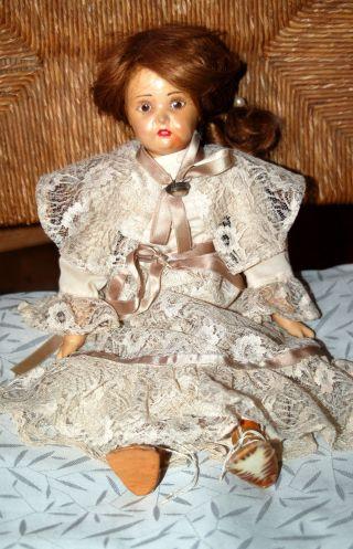 Süsse ältere Sammlerpuppe - Puppe - 40cm Bild