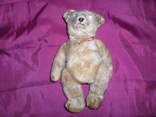 Sehr Alter Teddy,  24 Cm,  Schuco?,  Bewegliche Gliedmaßen,  Druckmechanik Ton Bild