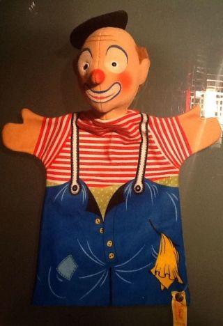 Steiff Handpuppe Clown Knopf,  Fahne 7075/28 1984 - 1987 Rarität Bild