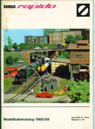 Arnold Rapido Modellbahnkatalog 1968/69,  Spur N Bild