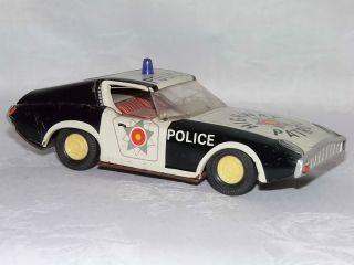 Altes Blech Auto - Polizeiauto Amerika - Um 1945 Bild