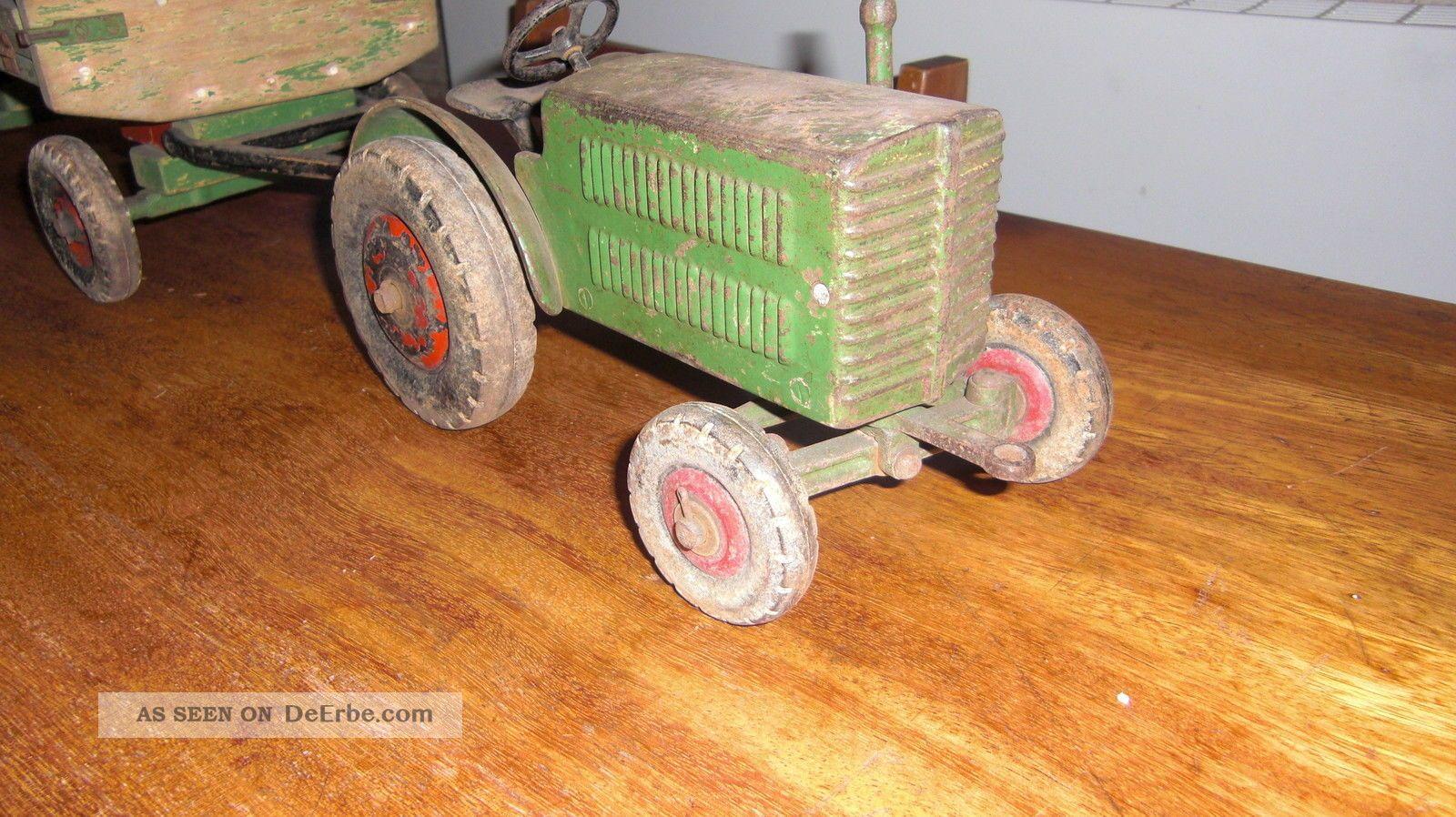 Handarbeitsmodell metall traktor trecker guss holz