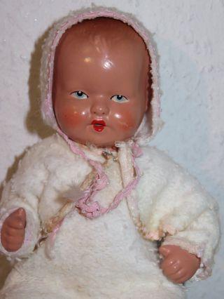 Alte Baby Masse Puppe Von Tebu Nr.  1220 Theodor Buschbaum 20 Cm Bild