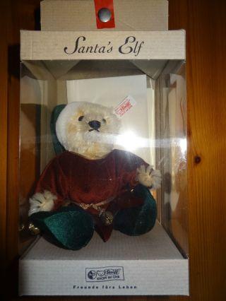 Steiff Teddybär Santa´s Elf 2000 Limitiert 3000 Stk Nr.  670572 Bild