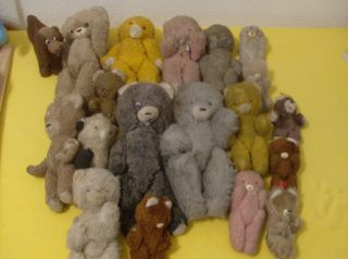 Alte Teddybär Sammlung Alte Teddies Teddy Uralt 1900 Hdt.  18 Stück Konvolut Bild