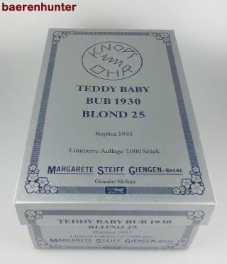 Steiff – Leerkarton Für °steiff - Teddy Baby Bub 1930° – Ean 407529 Bild
