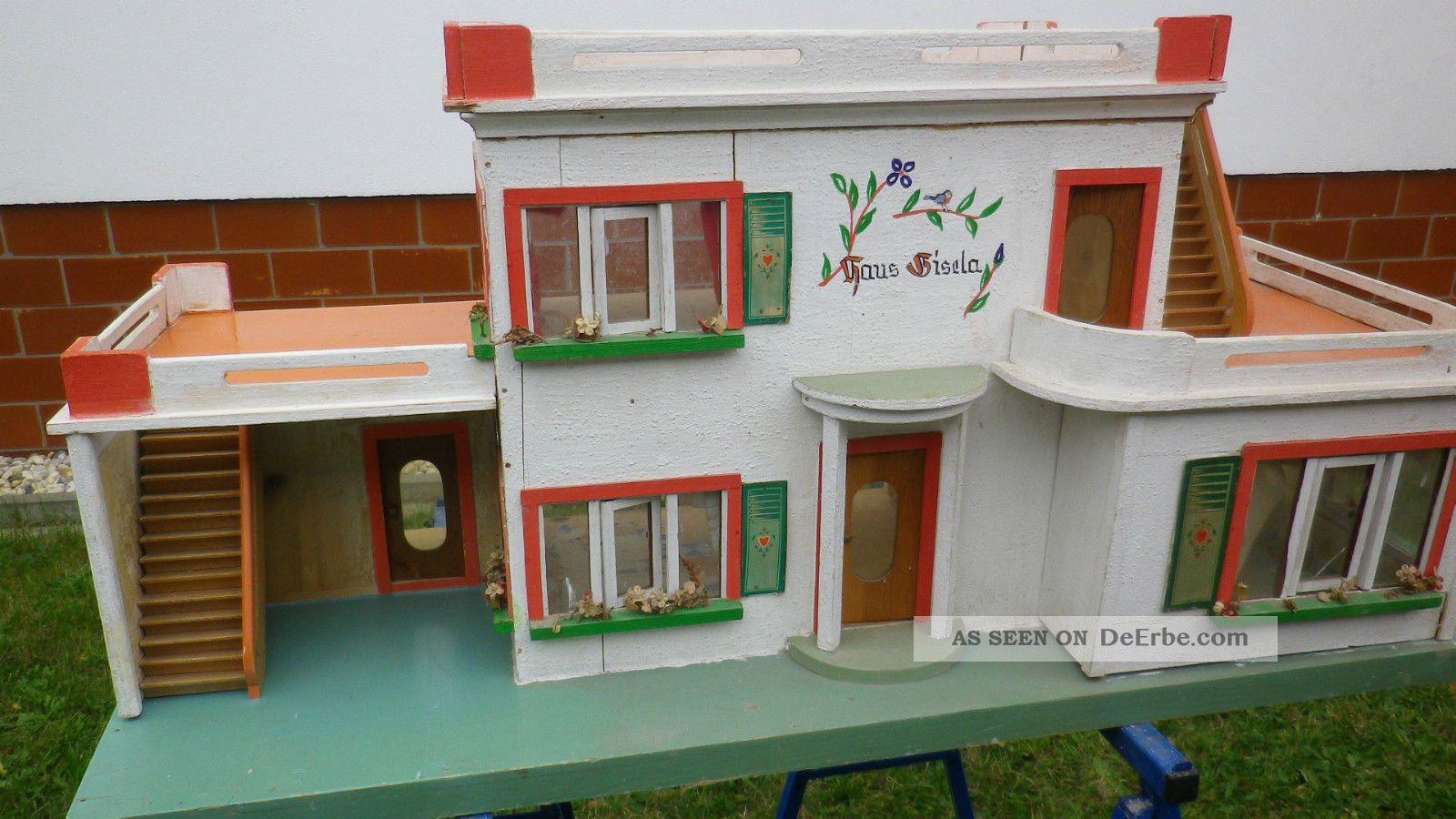 puppenhaus puppenstube ddr antik haus gisela albin sch nherr 50er jahre. Black Bedroom Furniture Sets. Home Design Ideas