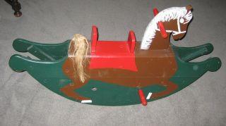 Altes Schaukelpferd Holz Holzschaukelpferd Pferd Schaukel Weihnachtsgeschenk Bild