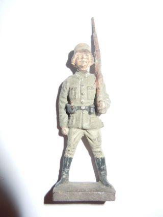 Lineol Elastolin Deutscher Soldat Ehrenwache Gewwehr über Von Lineol,  Top, Bild