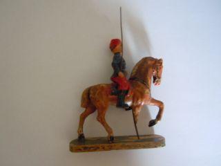 Lineol Elastolin Französischer Soldat Zu Pferd Mit Wimpel 6 Cm Serie Bild
