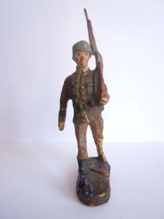 Lineol Elastolin Deutscher Soldat In Marsch Von Elastolin Bild