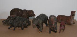 Tier Des Waldes,  6 Stück,  Elastolin,  Rar,  Natur,  Figur,  Tiere Bild