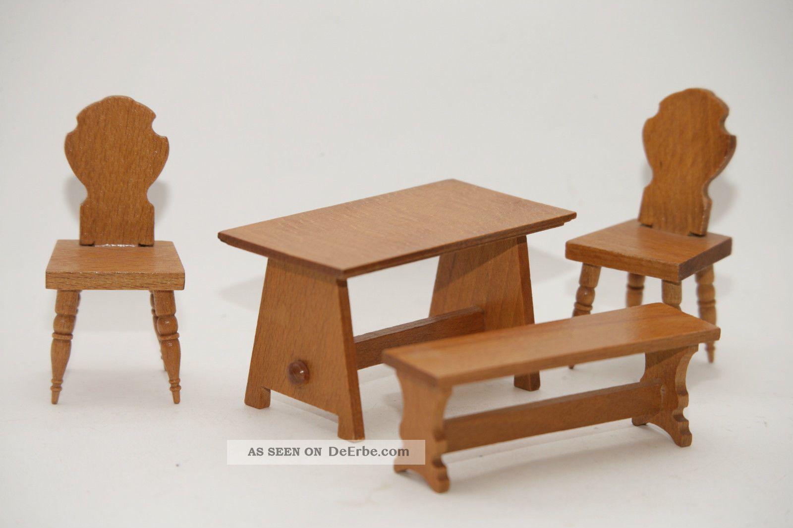 Möbel möbel design epochen : Bauern - Möbel Für Die Puppenstube Aus 70er Jahre Ddr Holz Puppe ...