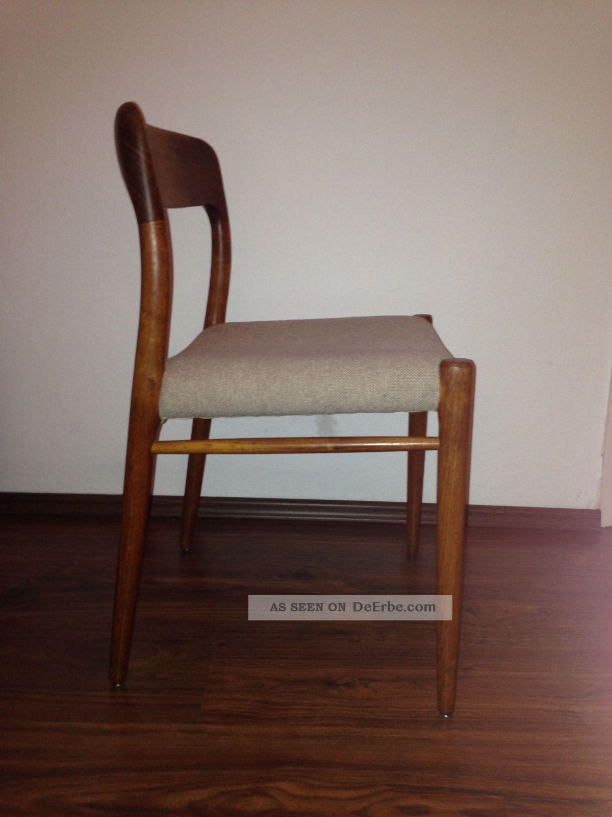 Teak Holz Stühle Dänisches Design 60 70er Jahre