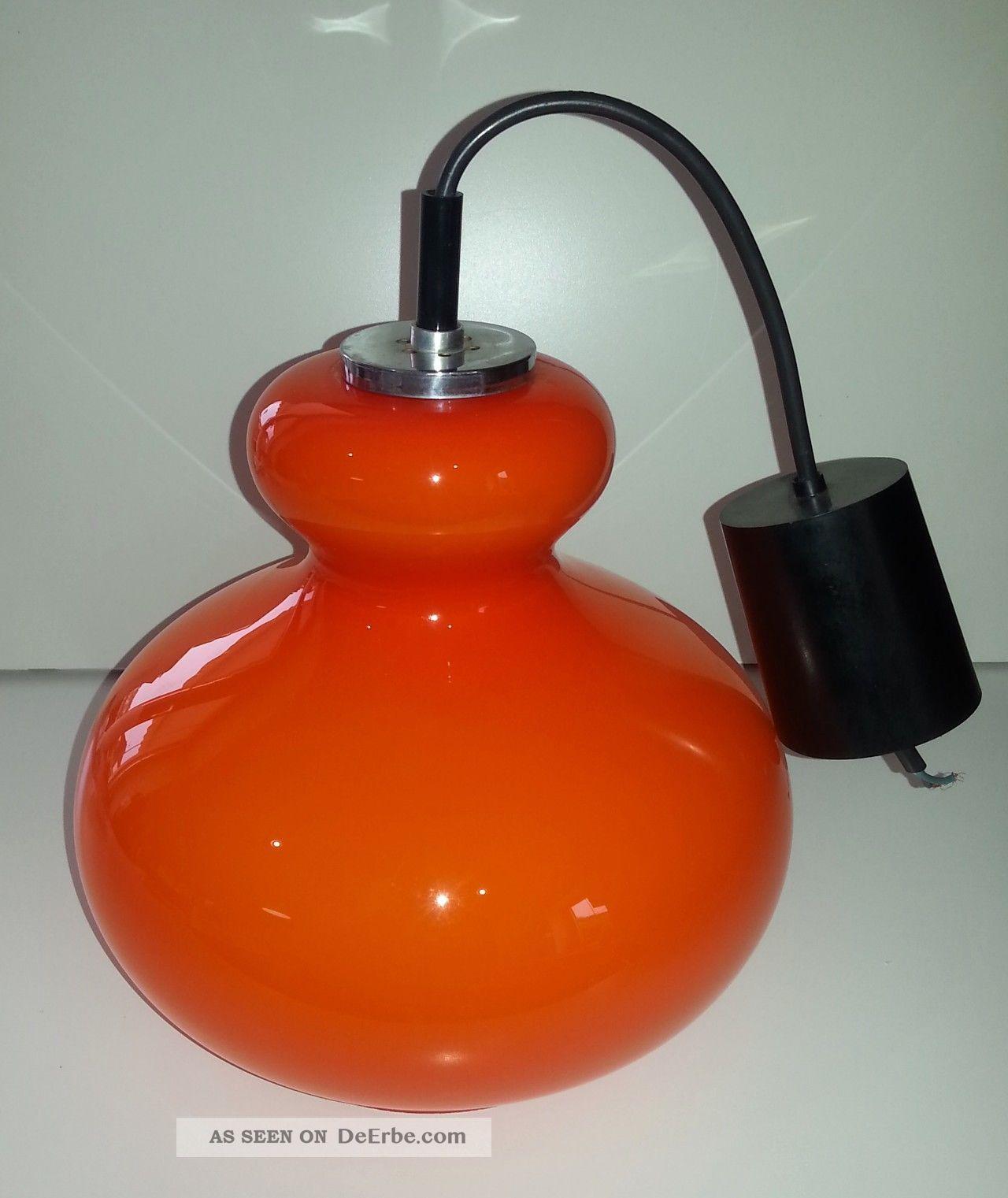 peill und putzler lampe deckelnampe 70er orange chrom berfangglas. Black Bedroom Furniture Sets. Home Design Ideas