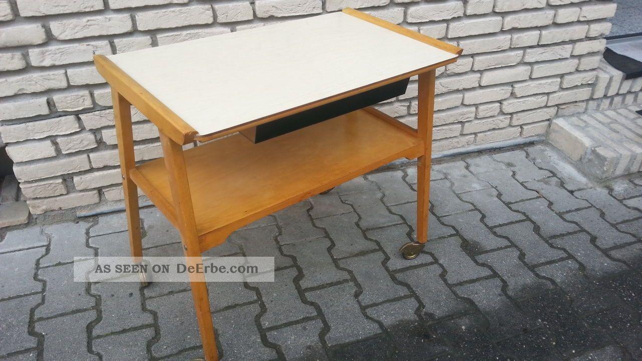 50er midcentury ablagetisch beistelltisch auf rollen toptoptoptoptop. Black Bedroom Furniture Sets. Home Design Ideas