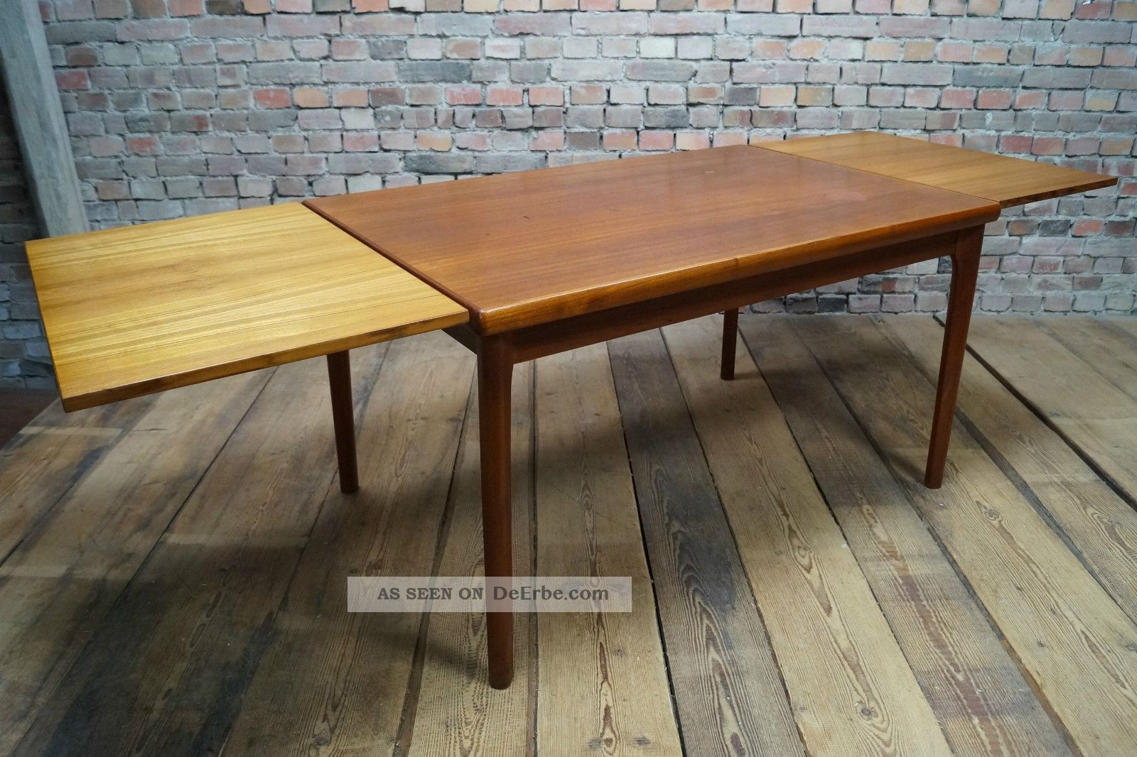 danish modern teak esstisch tisch dining table denmark vejle stole vintage 60s. Black Bedroom Furniture Sets. Home Design Ideas