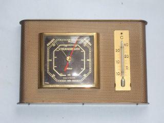 Alte Wetterstation,  Barometer Mit Thermometer,  Feingerätebau Fischer,  Drebach, Bild