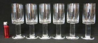 Wiesenthalhütte 6 Sektgläser Kristallglas 1969 H.  H.  Engler Oder Klaus Breit Bild