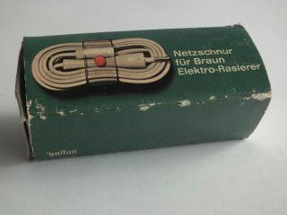 Altes Braun Rasiererkabel Anschlusskabel Verpackung Für Rasierer 1965 Bild