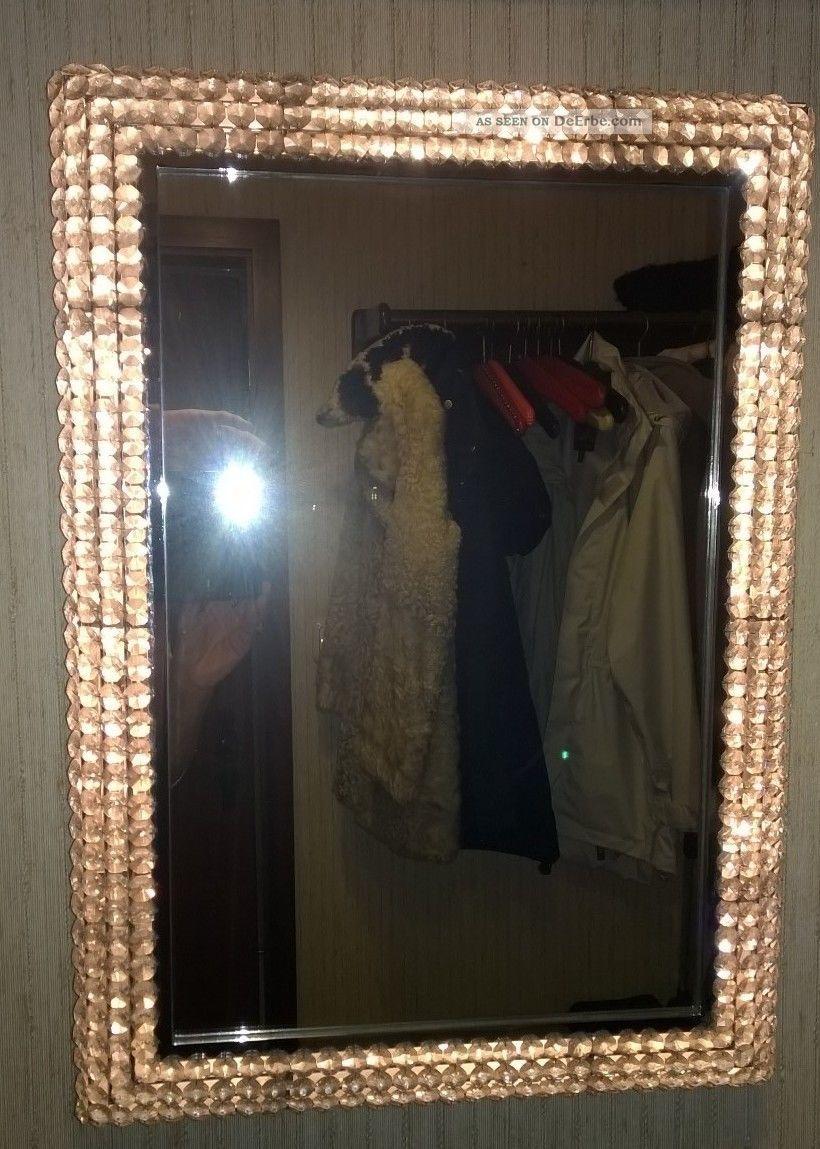 spiegel mit beleuchtung und kristallrand garderobenspiegel. Black Bedroom Furniture Sets. Home Design Ideas